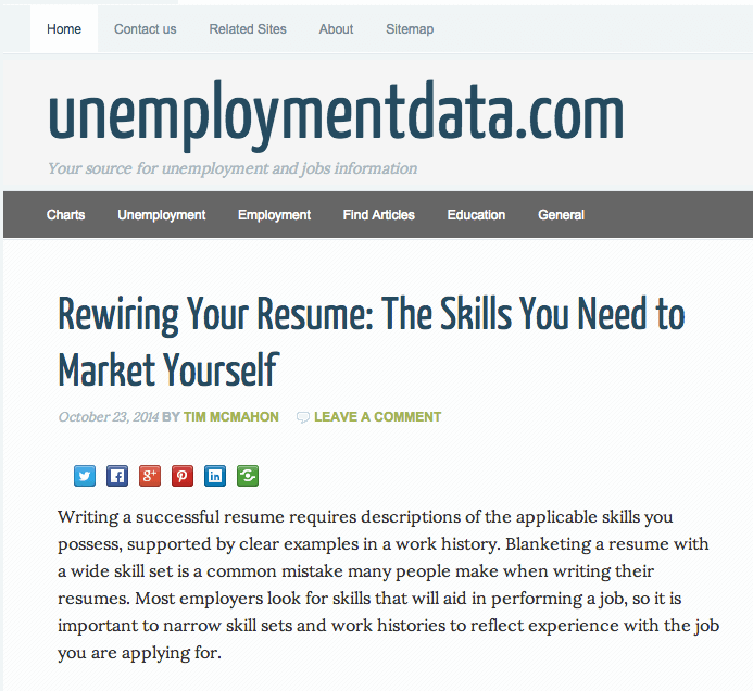 Unemploymentdata.com Profile