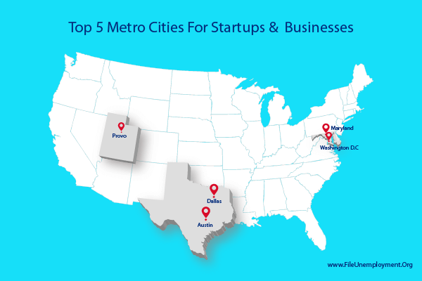 Top 5 Metro Cities For Businesses In US