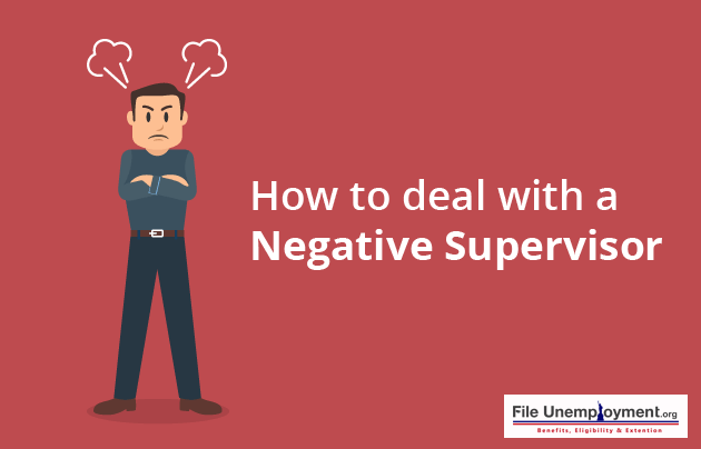 How to deal with a negative supervisor