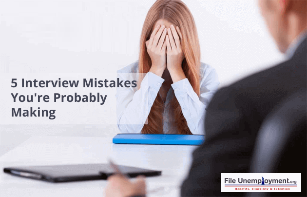 common interview mistakes people make