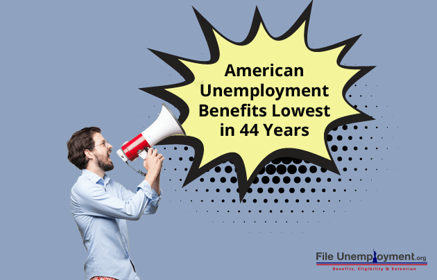 American Unemployment Benefits at 44 Year Low