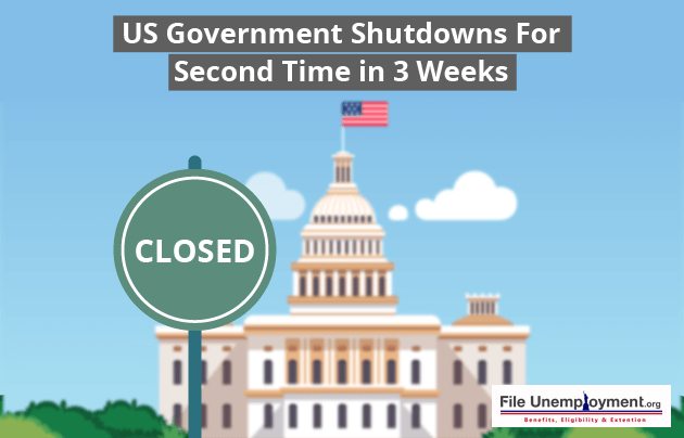 US Government Shutdowns For Second Time in 3 Weeks